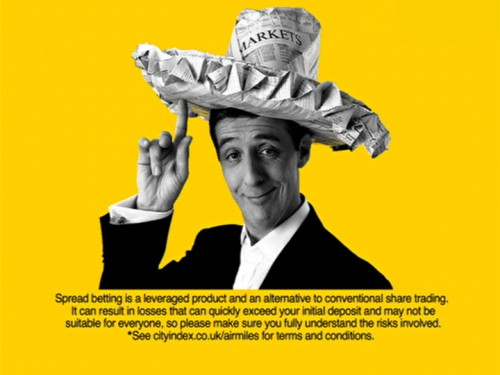 Man in hat made from paper on yellow background