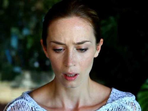 Emily Blunt looks shocked