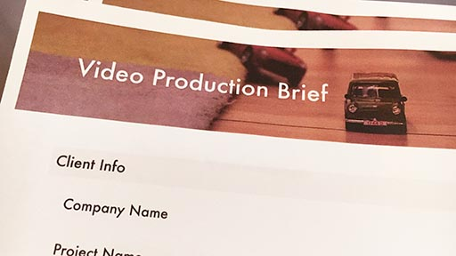 video production brief form