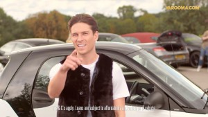 Joey Essex near Smart car