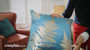 wayfair advert cushion